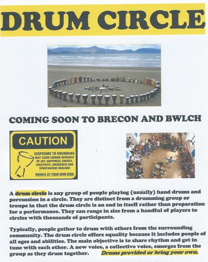 Drum circle poster general info