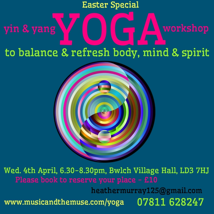 poster for yin and yang yoga workshop April 2018