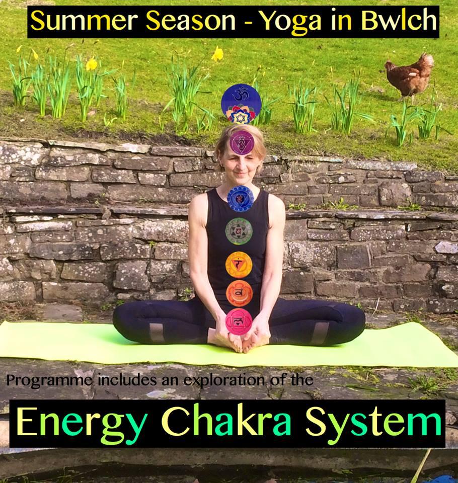 Summer season yoga in Bwlch
